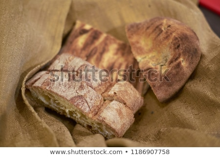 verde · azeitonas · fresco · pão · ervas - foto stock © camel2000