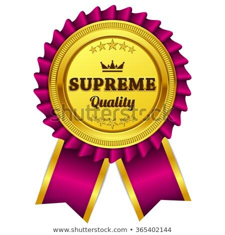 Supreme Quality Pink Seal Vector Icon Stock photo © rizwanali3d
