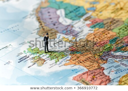 Police officer on the map of the world. Stock photo © Kirill_M
