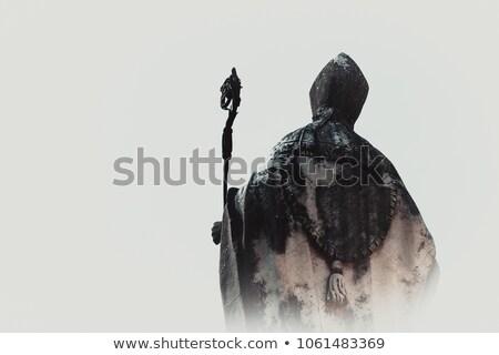 Pápa illusztráció tömeg béke ima vallás Stock fotó © adrenalina