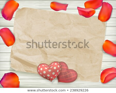 klasszikus · szív · íj · valentin · nap · eps · 10 - stock fotó © beholdereye