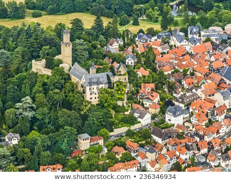 view to old town and castle of Kronberg  Stock photo © meinzahn