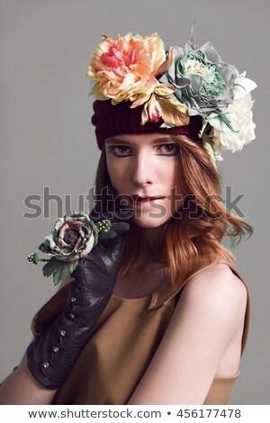 Glamour Stil Foto jungen Brünette Frau Stock foto © konradbak