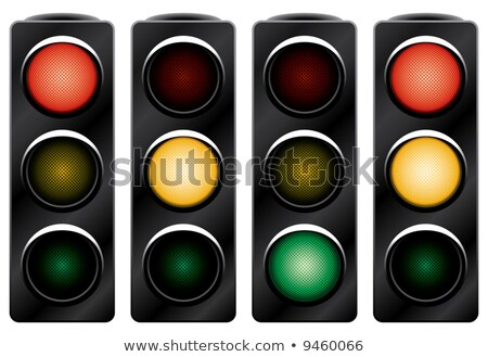 Variants a Traffic light control road sign Stock photo © boroda