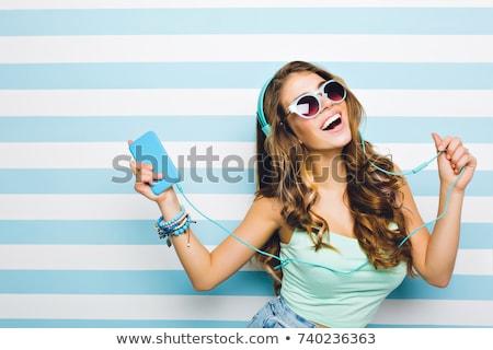 Sportive girl in studio Stock photo © bezikus
