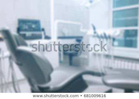 Bulanıklık diş hekimleri ofis diş hekimliği aletleri modern iç Stok fotoğraf © photocreo
