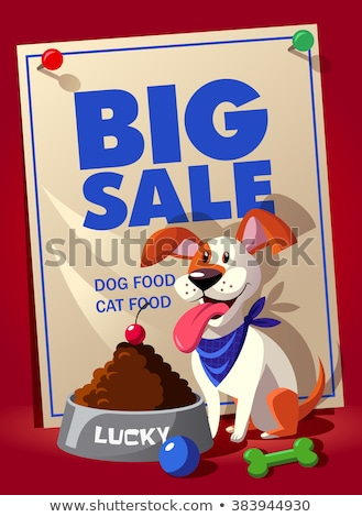 Big sale flier, banner or template with discount for pet Shop.  Stock photo © natalya_zimina