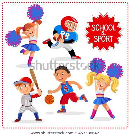 school · tijd · gelukkig · jongens · meisjes · sport - stockfoto © natalya_zimina