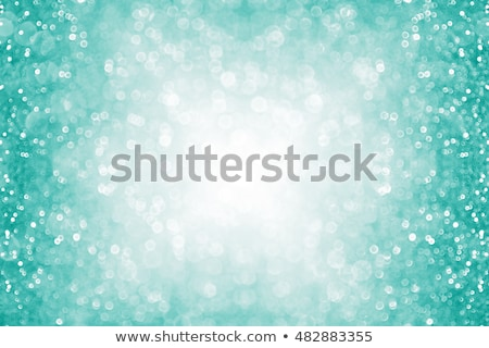 Teal Turquoise Aqua Glitter Confetti Border Stock photo © Stephanie_Zieber