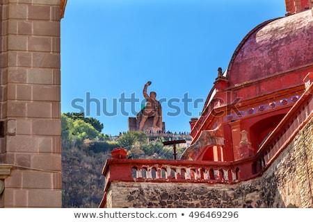 theater san diego church el pipila statue guanajuato mexico stock photo © billperry