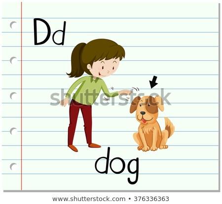D betű kutya illusztráció természet háttér művészet Stock fotó © bluering