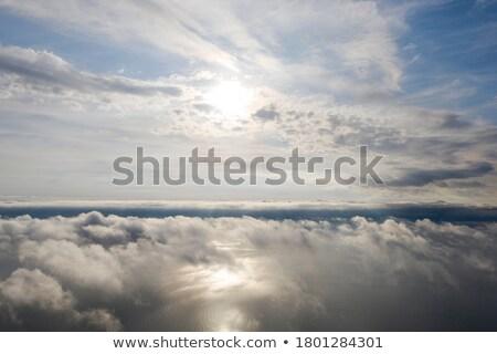 飛行 · 雲 · 画像 · 平面 · 山 - ストックフォト © bluering
