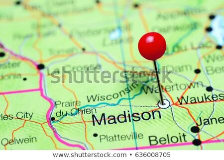 madison pin on the map Stock photo © alex_grichenko