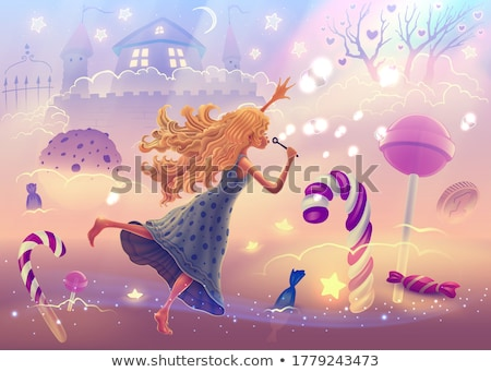 Kabarcık peri inci el renkli karikatür Stok fotoğraf © derocz