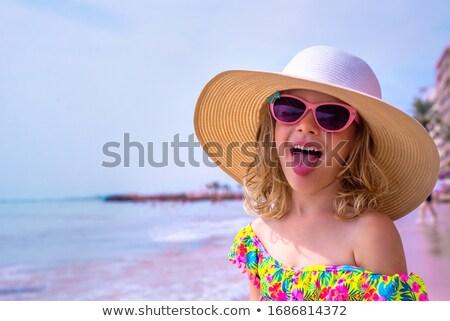 Feliz nina vacaciones de verano pequeño 5 años Foto stock © ozgur