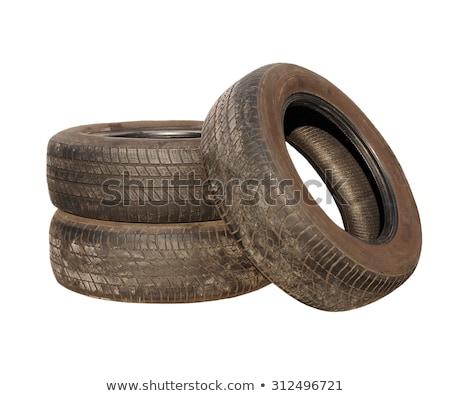 pneu · reciclagem · velho · pneus · céu - foto stock © devon