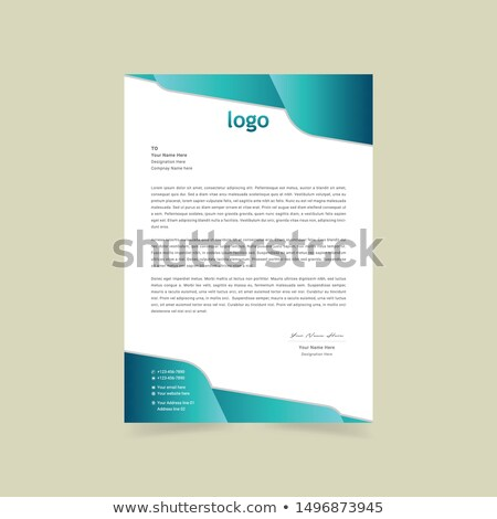 レターヘッド 創造 ビジネス テンプレート ベクトル デザイン ストックフォト © SArts