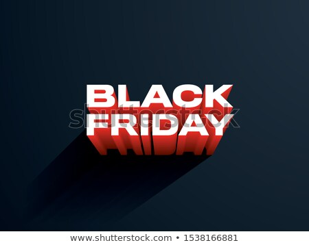 clean black friday poster with long shadow Stock photo © SArts