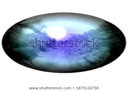human brain on a abstract light blue background detailed colorf stock photo © tefi