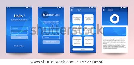 s'identifier · utilisateur · mot · de · passe · écran · interface · composite · numérique - photo stock © sarts