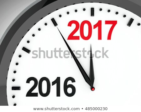 2016-2017 Clock dial Stock photo © Oakozhan