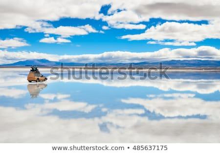 Stock fotó: Sivatag · Bolívia · naplemente · só · víz · háttér