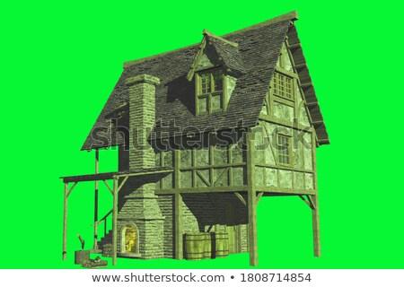 Bois chalet 3D design illustration maison Photo stock © bluering