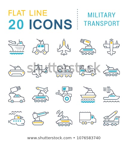 armored tank forces flat style vector infographics stock photo © robuart