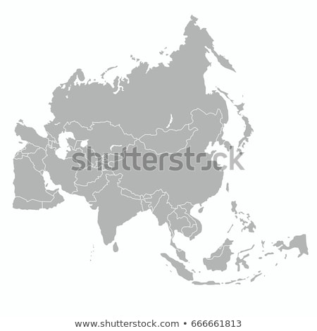 Illustrated Map of Asia Stock photo © VOOK