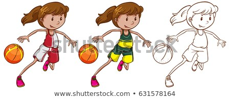 Drafting character for female basketball player Stock photo © bluering