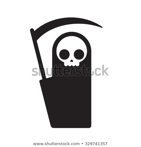 Grim Reaper Cute Cartoon Skeleton Halloween Vector Illustration Stock photo © doddis