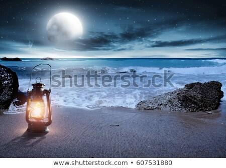 日没 · 島々 · シルエット · 美しい · 水 · 雲 - ストックフォト © kzenon