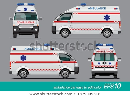 ambulance · voiture · route · médicaux · hôpital · bleu - photo stock © reticent