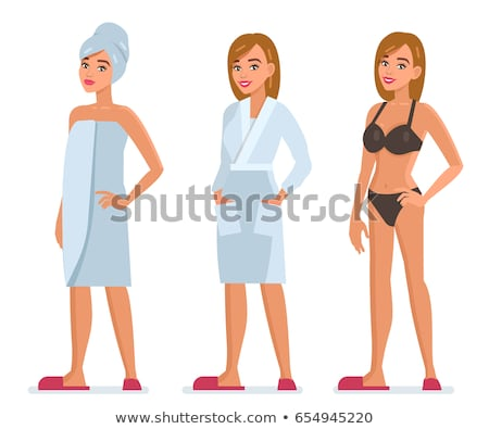 woman wearing white underwear portrait stock photo © chesterf