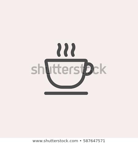 vektör · sıcak · kahve · temizlemek · kahve · fincanı - stok fotoğraf © get4net