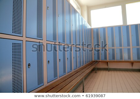 classic empty dressing room with lockers stock photo © stevanovicigor