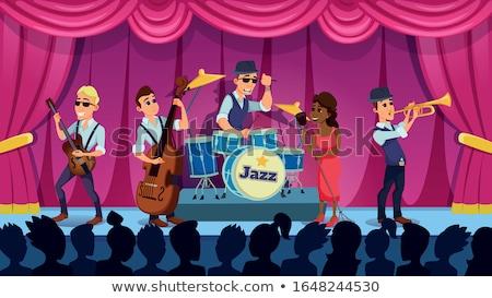 Homme chanter Homme batteur discothèque concert Photo stock © wavebreak_media