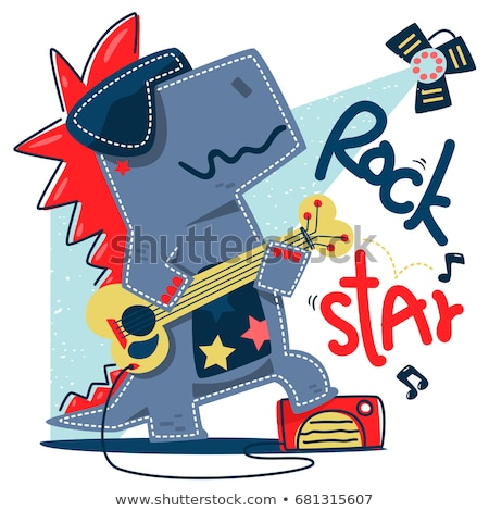 Stock photo: Musician cartoon animals