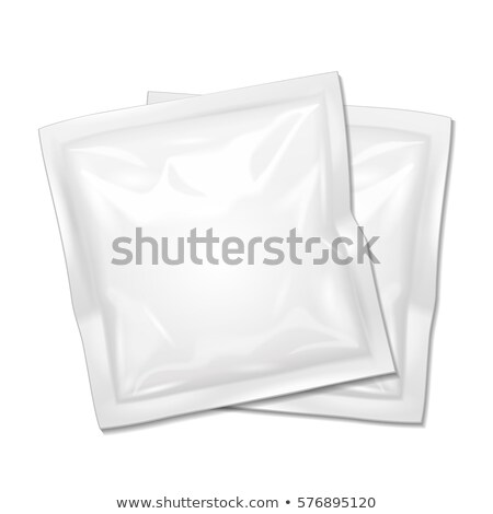 Blank Filled Retort Foil Flexible Pouch Bag Packaging. For Condoms, Medicine Drugs Or Food Product.  Stock photo © pikepicture