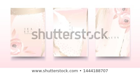 pink pastel rose poster stock photo © barbaliss