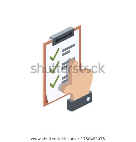 Smart Ideas on Clipboard. 3D. Stock photo © tashatuvango