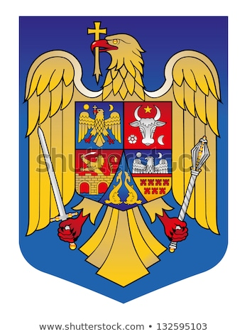coat of arms eagle cross stars vector stock photo © vectorworks51