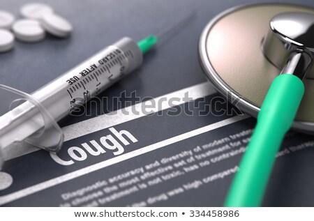 tuberculosis   printed diagnosis on grey background stock photo © tashatuvango