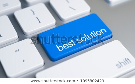 Problem Solving - Text on the Blue Keyboard Keypad. 3D. Stock photo © tashatuvango