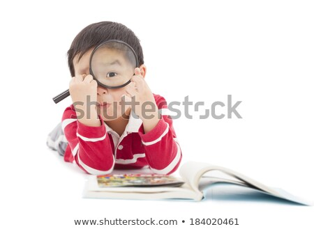 learn japanese through magnifying glass stock photo © tashatuvango