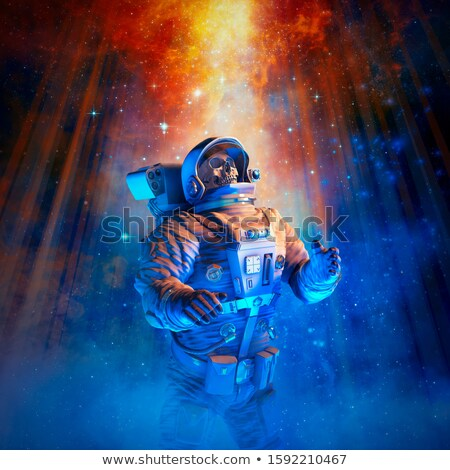 skull in the space helmet stock photo © genestro