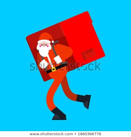 赤 · ビッグ · サンタクロース · 袋 · 孤立した · 白 - ストックフォト © maryvalery