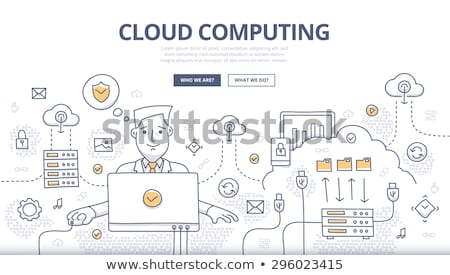 Cloud Computing Technology Concept with Doodle Design Icons. Stock photo © tashatuvango