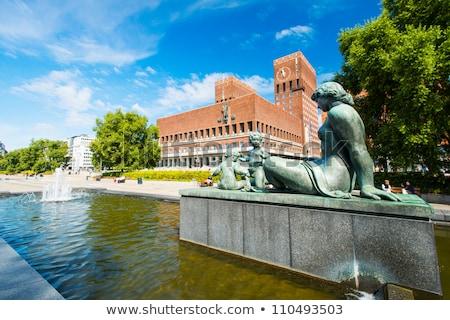 像 市 ホール オスロ ノルウェー 現代 ストックフォト © phbcz