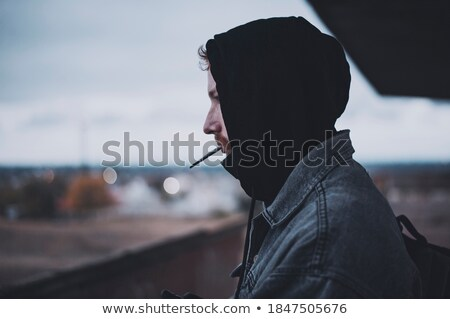 man with hood looking at viewer Stock photo © IS2